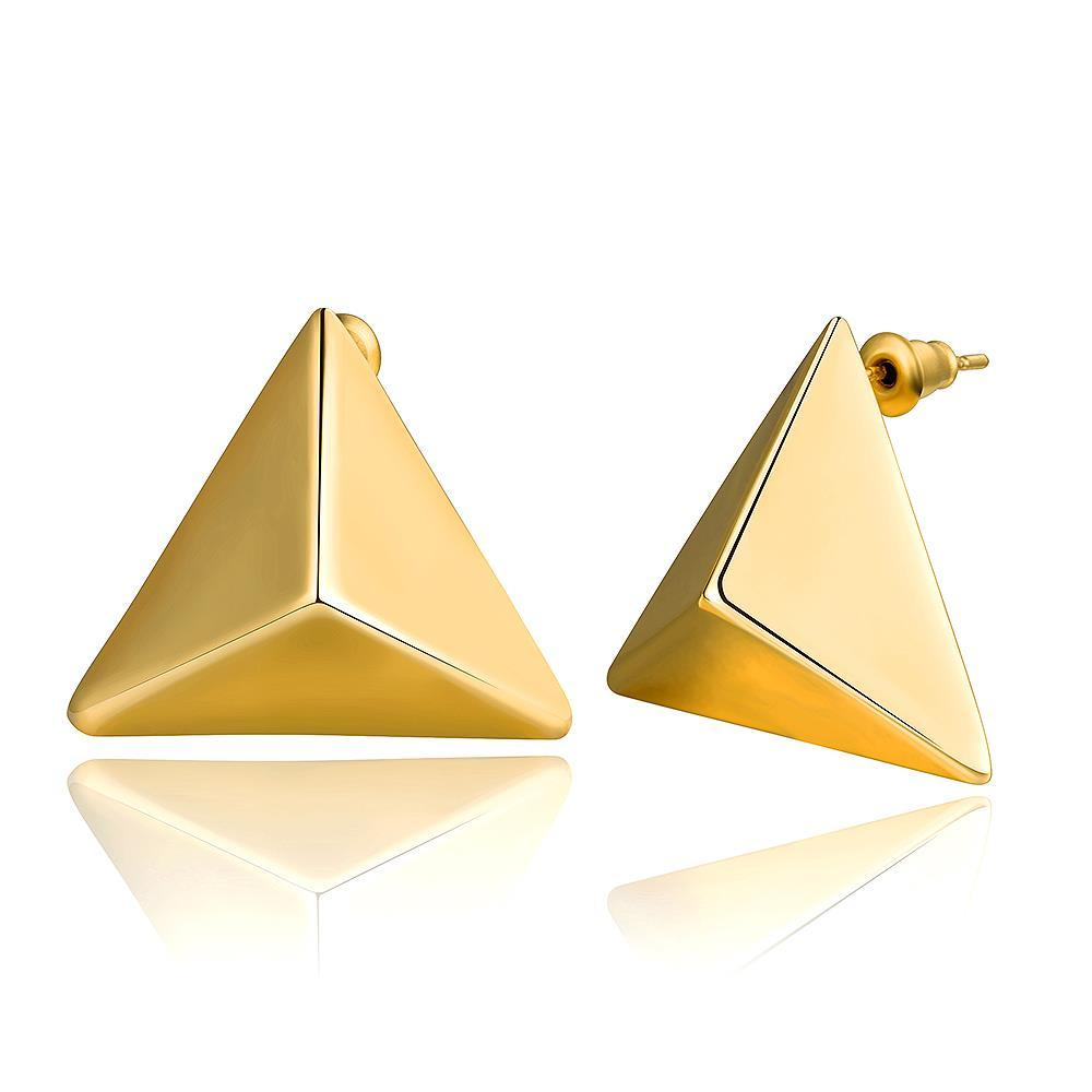 Vienna Jewelry 18K Gold Petite Triangle Stud Earrings Made with Swarovksi Elements
