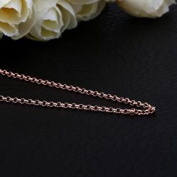 Vienna Jewelry Rose Gold Plated Petite London Inspired Chain Necklace - Thumbnail 0