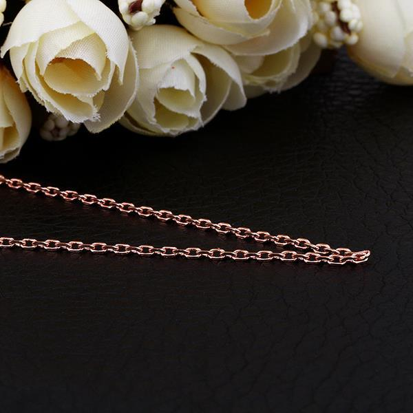 Vienna Jewelry Rose Gold Plated Petite Circular Chain Necklace