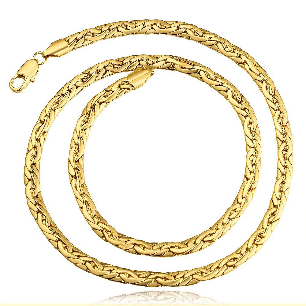Vienna Jewelry Gold Plated Milan Inspired Necklace
