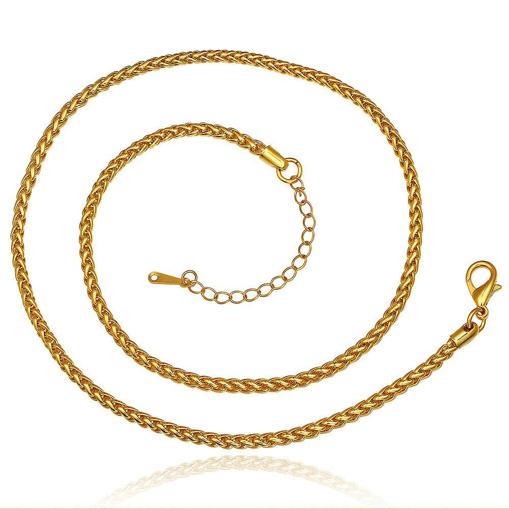 Vienna Jewelry Gold Plated Petite Mini Spiral Design Necklace - Thumbnail 0