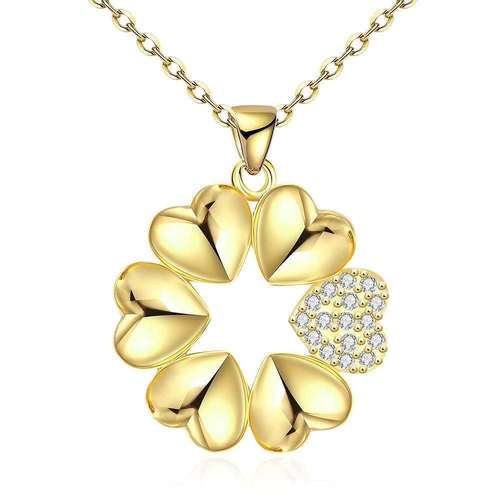 Vienna Jewelry Gold Plated Large-Cut Snowflake Necklace