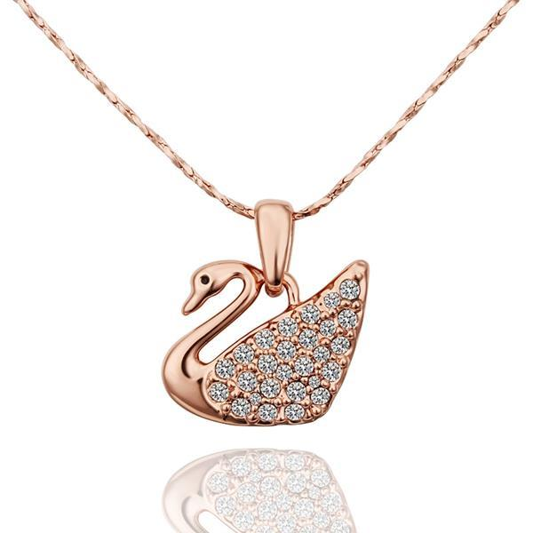 Vienna Jewelry Rose Gold Plated Peaceful Dove Necklace