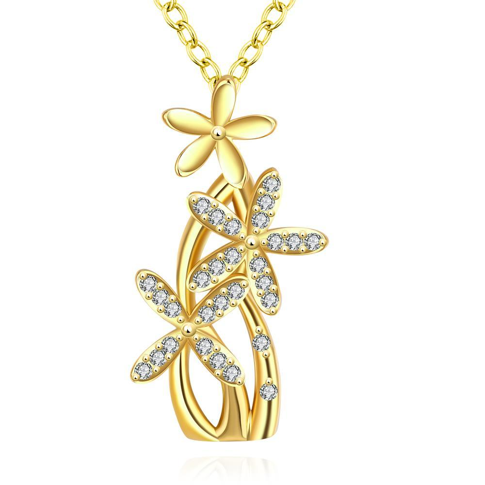 Vienna Jewelry Gold Plated Grape Vine Necklace
