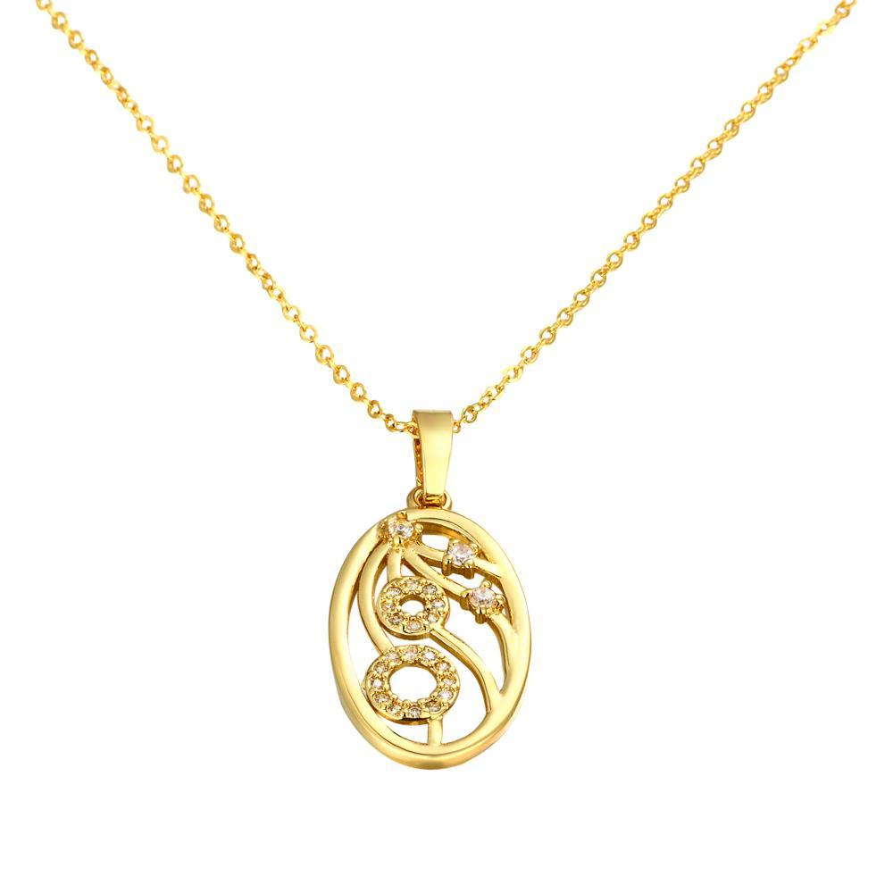 Vienna Jewelry Gold Plated Branches Emblem Necklace