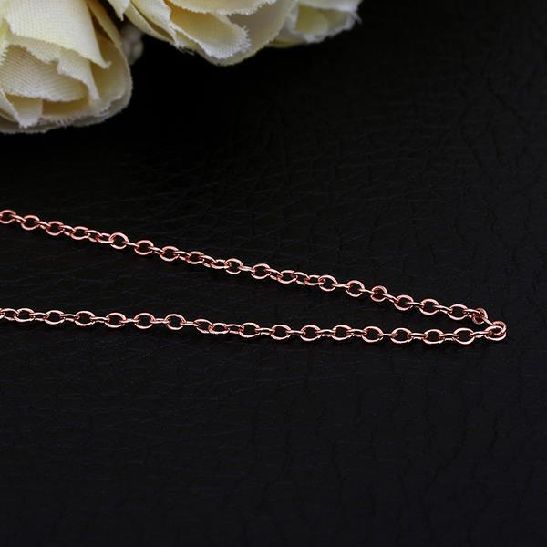 Vienna Jewelry Rose Gold Plated Petite Mini Chain Necklace