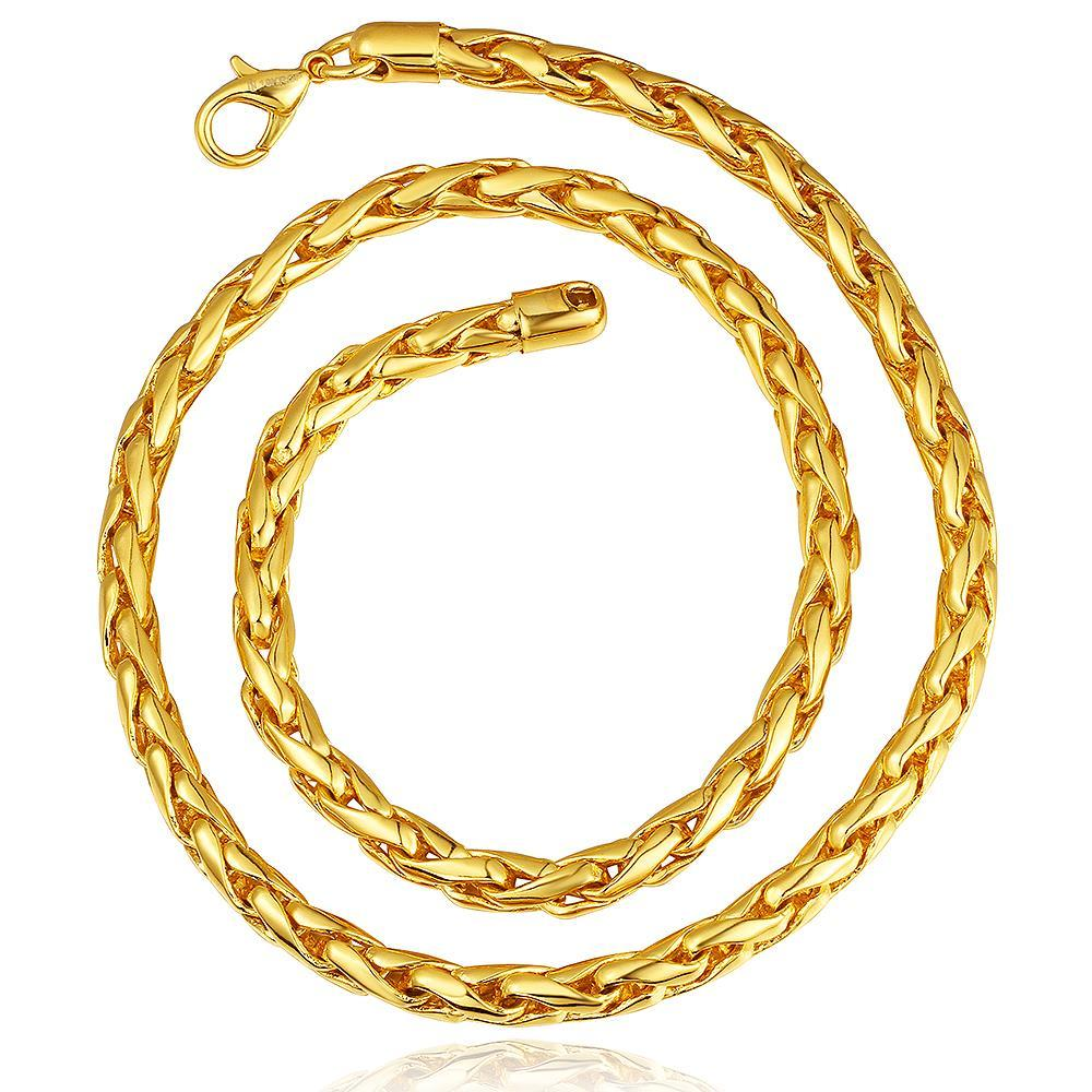 Vienna Jewelry Gold Plated Intertwined Chain Necklace