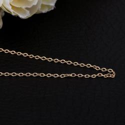 Vienna Jewelry Gold Plated Mini Petite Chain Necklace - Thumbnail 0