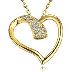 Vienna Jewelry Gold Plated Intertwined Love Necklace - Thumbnail 0