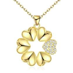 Vienna Jewelry Gold Plated Large-Cut Snowflake Necklace - Thumbnail 0