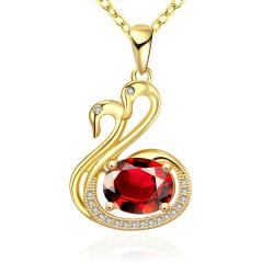 Vienna Jewelry Gold Plated Peacefull Dove Necklace - Thumbnail 0