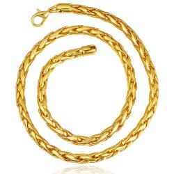 Vienna Jewelry Gold Plated Intertwined Chain Necklace - Thumbnail 0