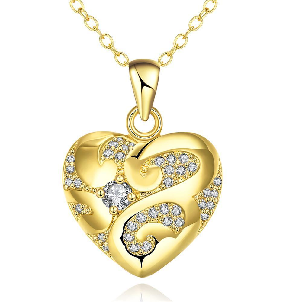 Vienna Jewelry Gold Plated Tiffany's Love Necklace