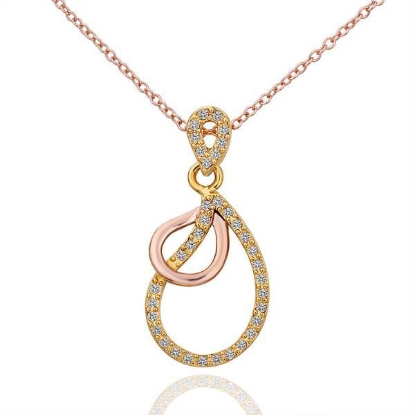 Vienna Jewelry Gold Plated Connected Circles Necklace