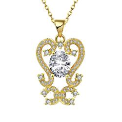 Vienna Jewelry Gold Plated Artistic Medium Intertwined Necklace - Thumbnail 0