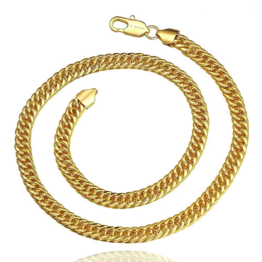 Vienna Jewelry Gold Plated Petite Milan Inspired Chain Necklace