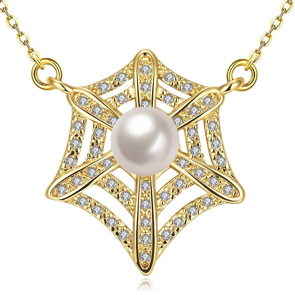 Vienna Jewelry Gold Plated Spiderweb Inspired Necklace
