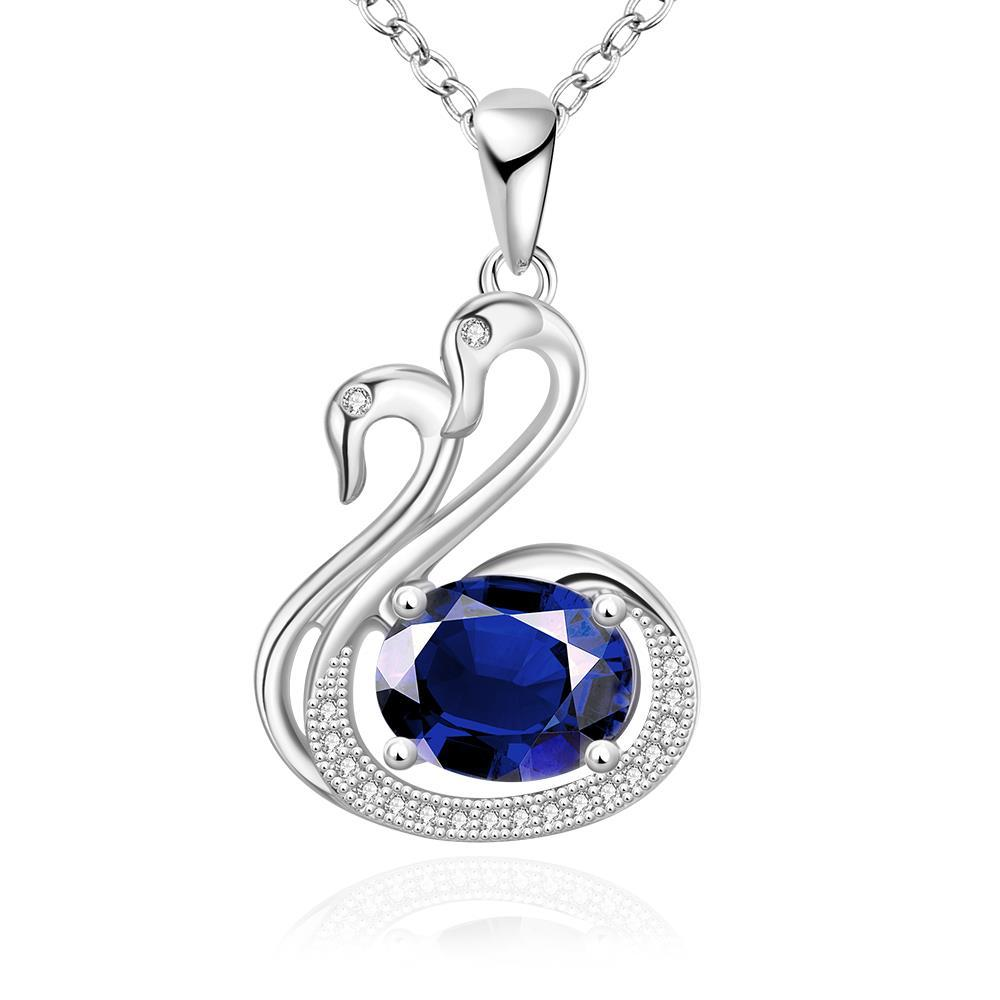 Vienna Jewelry White Gold Plated Peacefull Dove Necklace