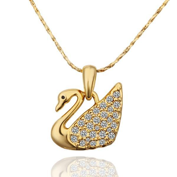 Vienna Jewelry Gold Plated Peaceful Dove Necklace