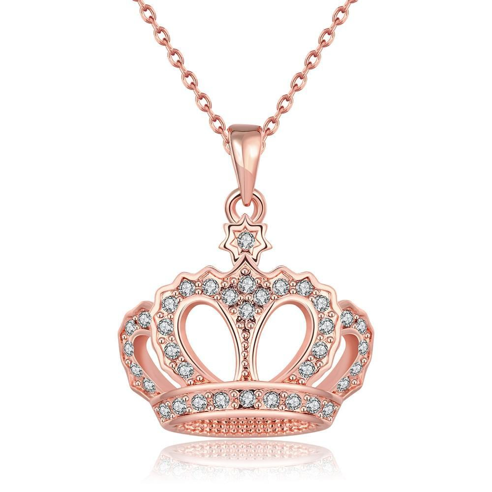 Vienna Jewelry 18K Rose Gold Plated Swag KingNecklace