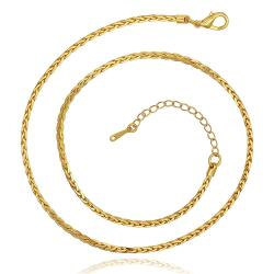 Vienna Jewelry Gold Plated Petite Mini Intertwined Spiral Necklace - Thumbnail 0