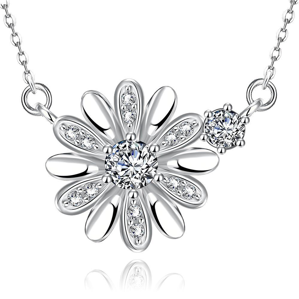 Vienna Jewelry White Gold Plated Snowflake * Pendant Necklace