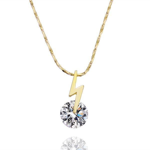 Vienna Jewelry Gold Plated Crystal Center Necklace