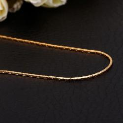 Vienna Jewelry Gold Plated Petite Chain Necklace - Thumbnail 0