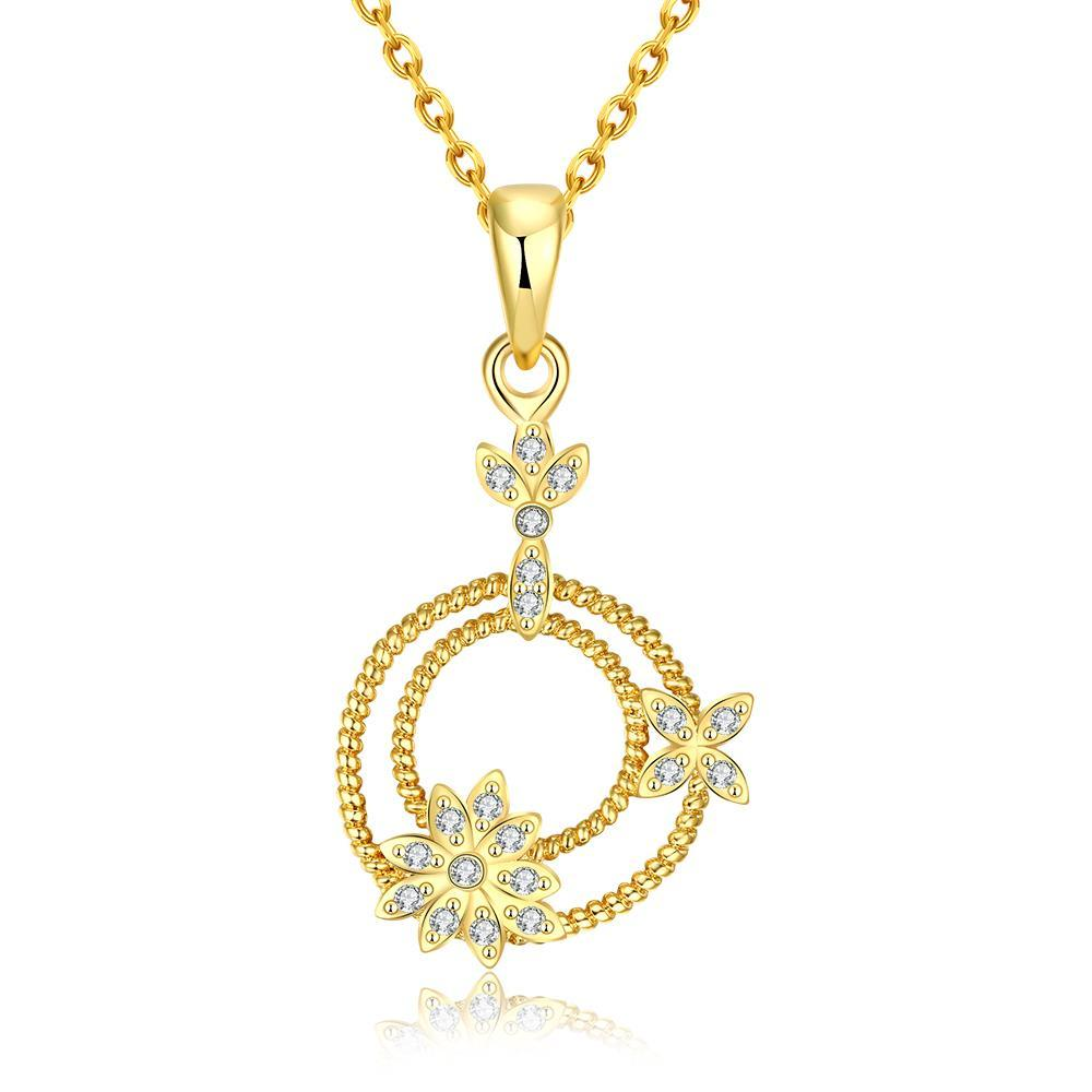 Vienna Jewelry Gold Plated Petite Snowflakes Necklace