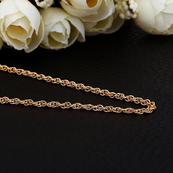 Vienna Jewelry Gold Plated Thick Intertwined Chain Necklace