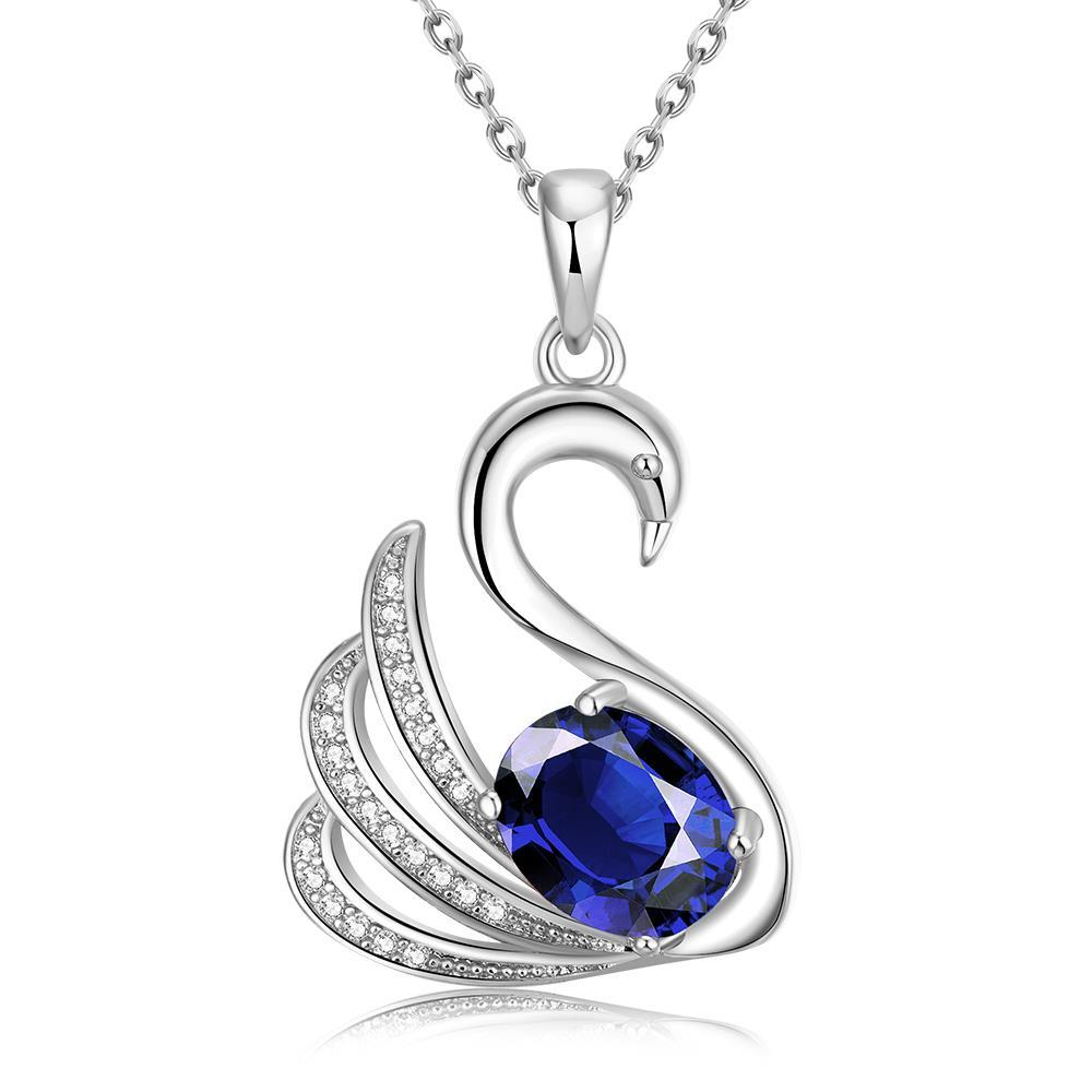 Vienna Jewelry White Gold Plated Elegant Dove Necklace