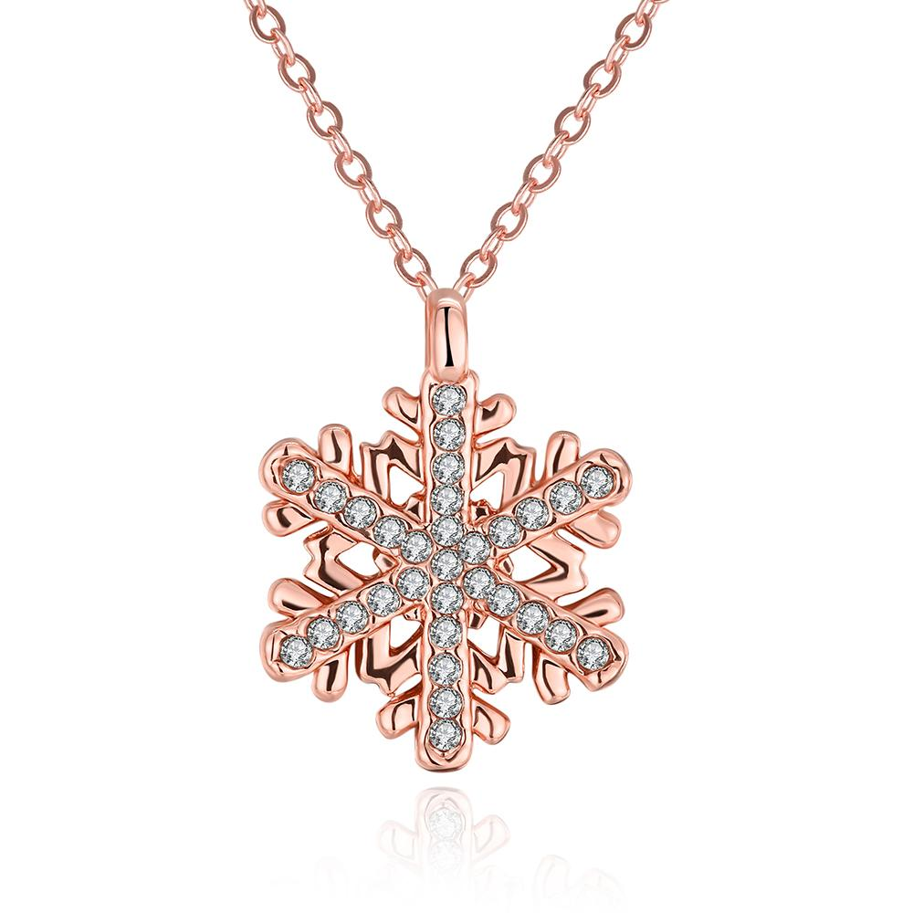 Vienna Jewelry Gold Plated Snowflake Fusion Necklace