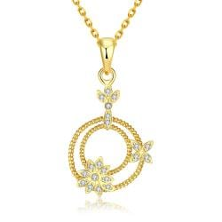 Vienna Jewelry Gold Plated Petite Snowflakes Necklace - Thumbnail 0