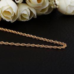 Vienna Jewelry Gold Plated Thick Intertwined Chain Necklace - Thumbnail 0