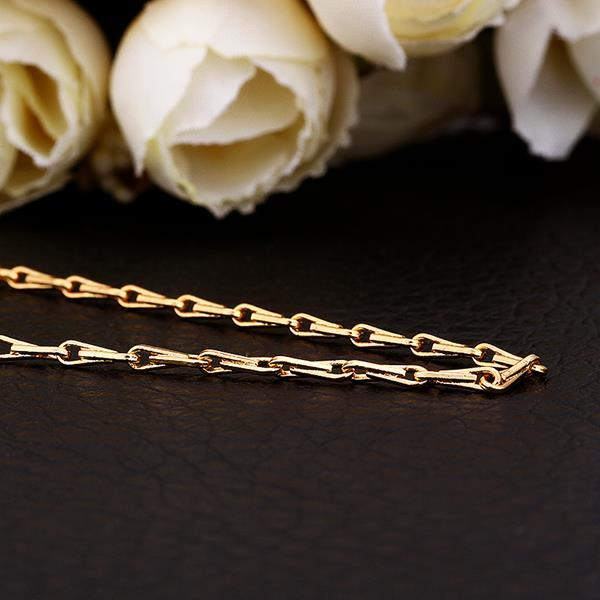 Vienna Jewelry Gold Plated Intertwined Chain Lock Chain Necklace