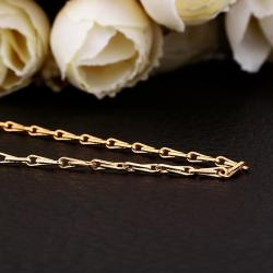 Vienna Jewelry Gold Plated Intertwined Chain Lock Chain Necklace - Thumbnail 0