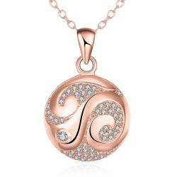 Vienna Jewelry Rose Gold Plated Japanese Inspired Necklace - Thumbnail 0