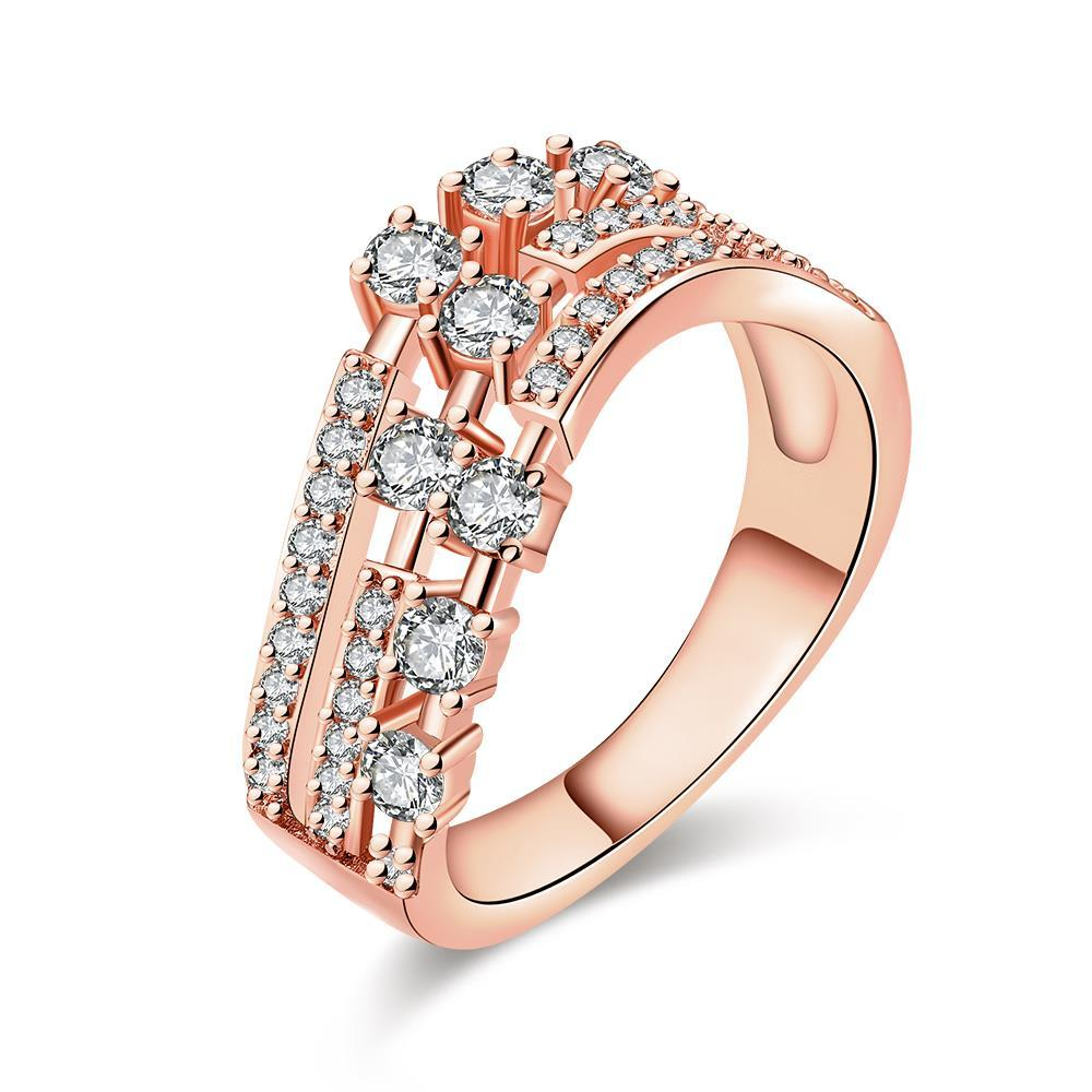 Vienna Jewelry Rose Gold Plated World Fusion Ring