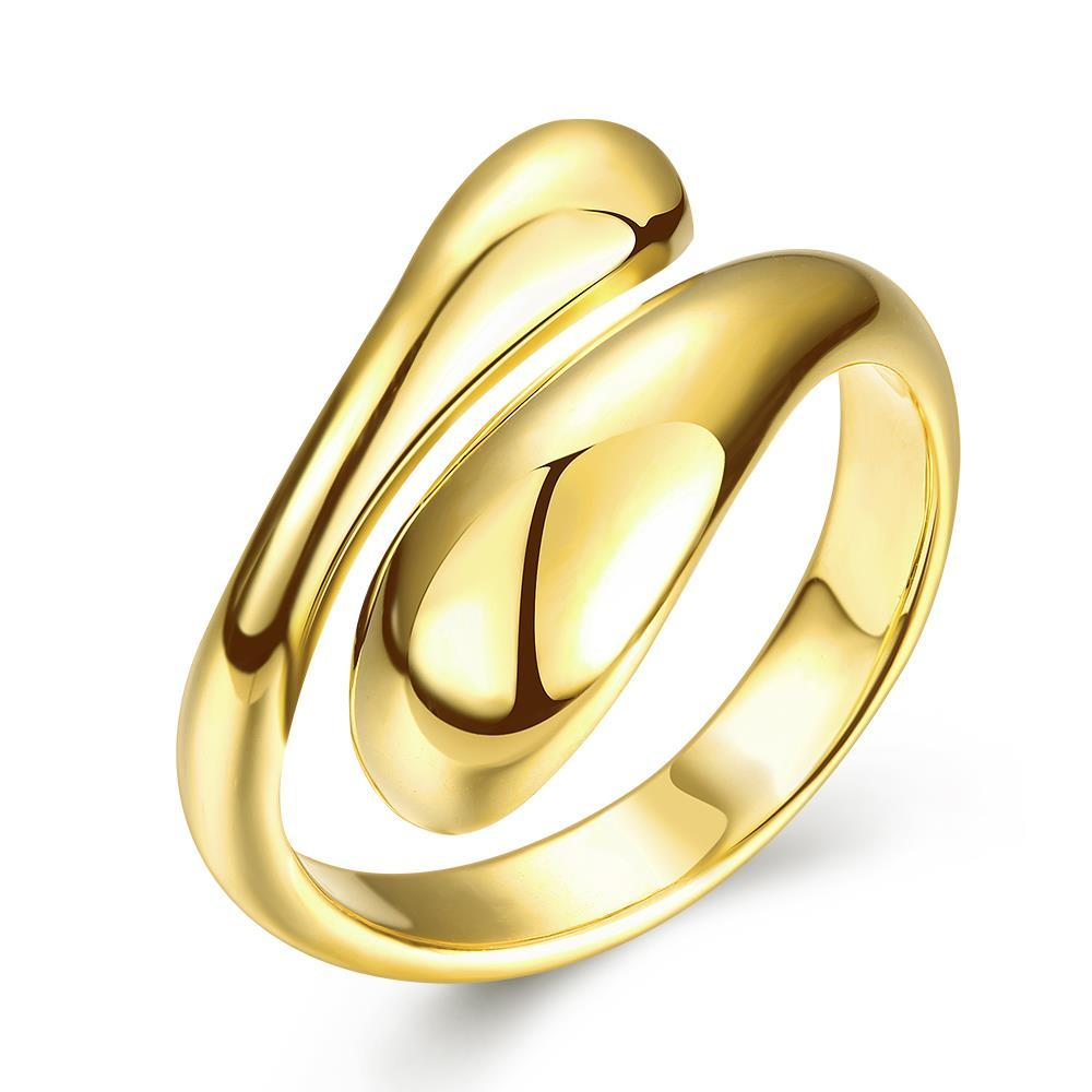Vienna Jewelry Gold Plated Matrix Cut Ring