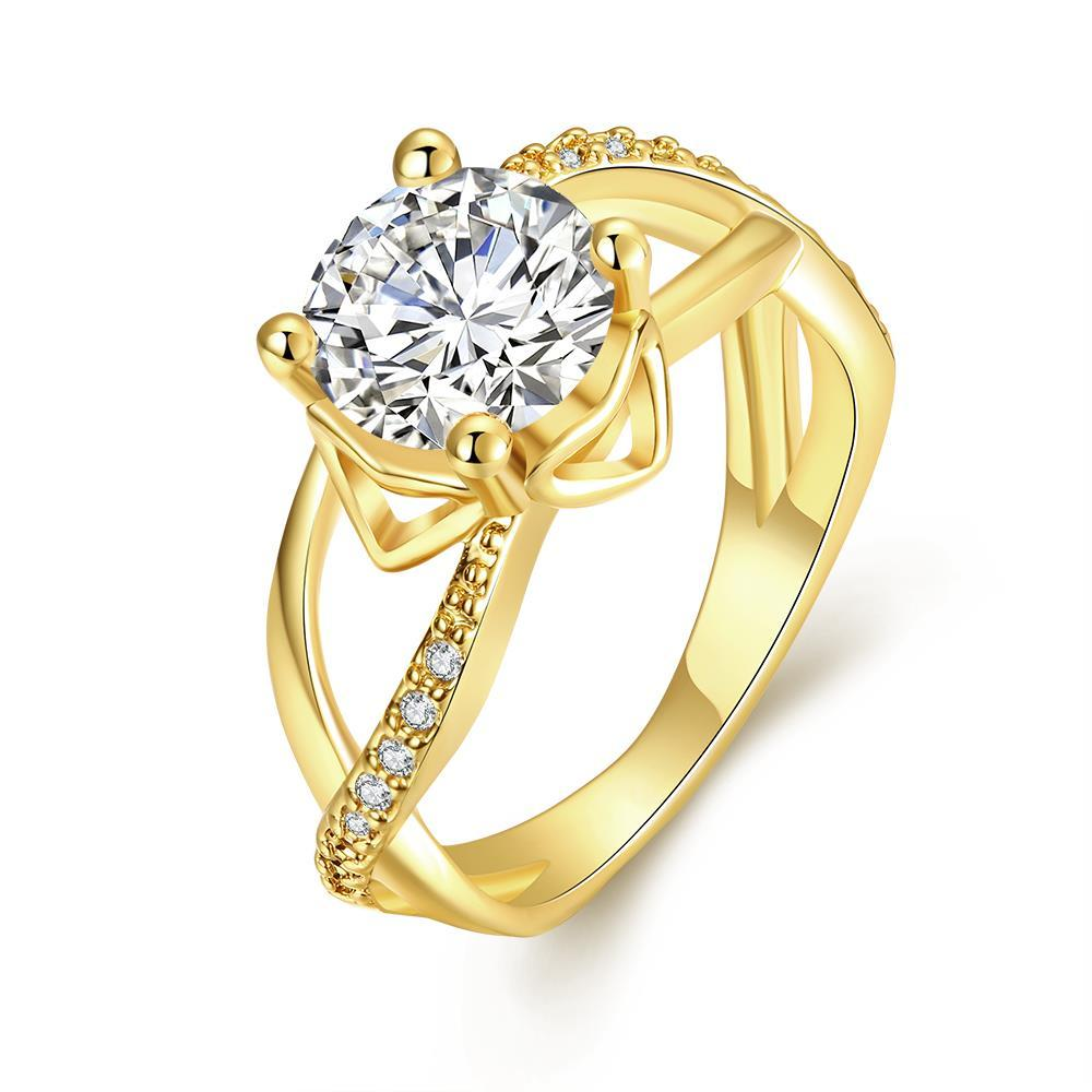Vienna Jewelry Gold Plated Classic Paris Inspired Ring