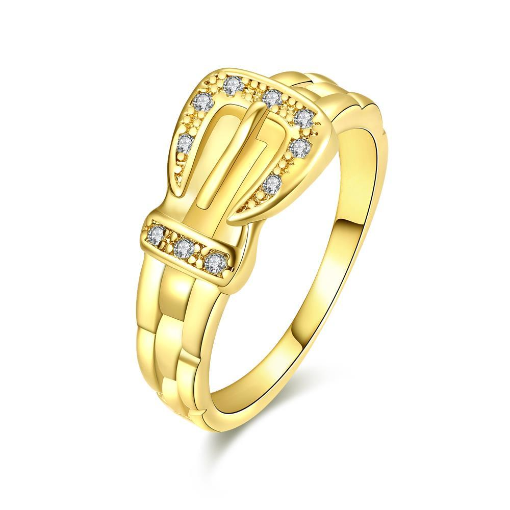 Vienna Jewelry Gold Plated Belt Buckle Design Ring