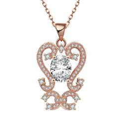 Vienna Jewelry Rose Gold Plated Artistic Medium Intertwined Necklace - Thumbnail 0