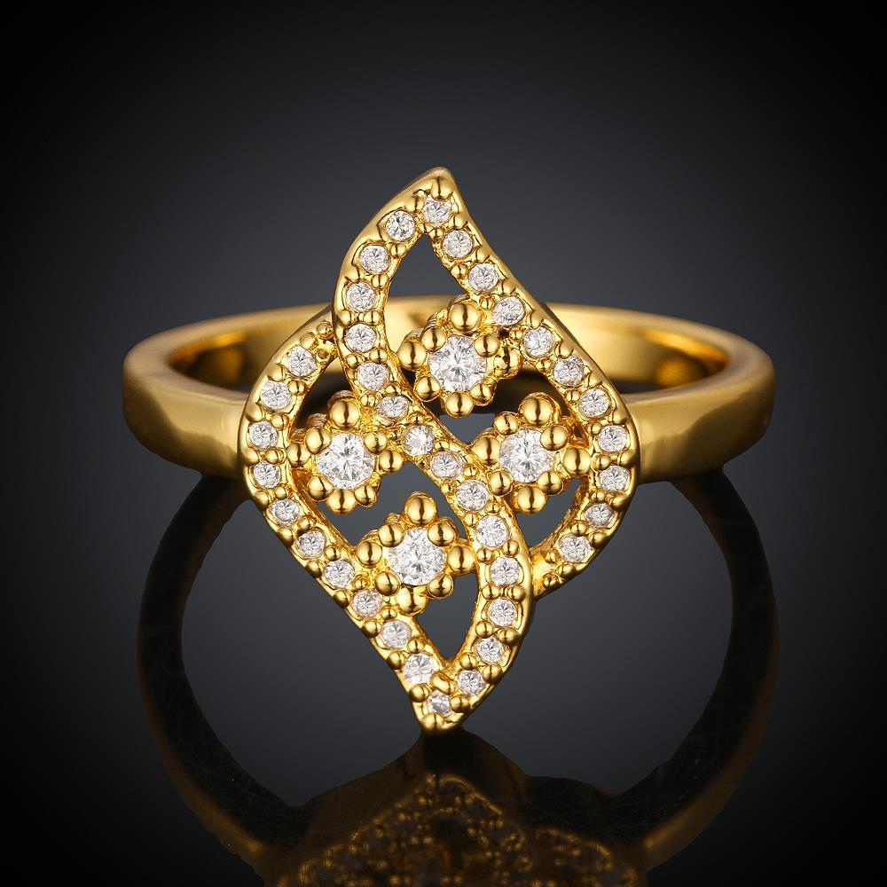 Vienna Jewelry Gold Plated Swivel Artistic Ring