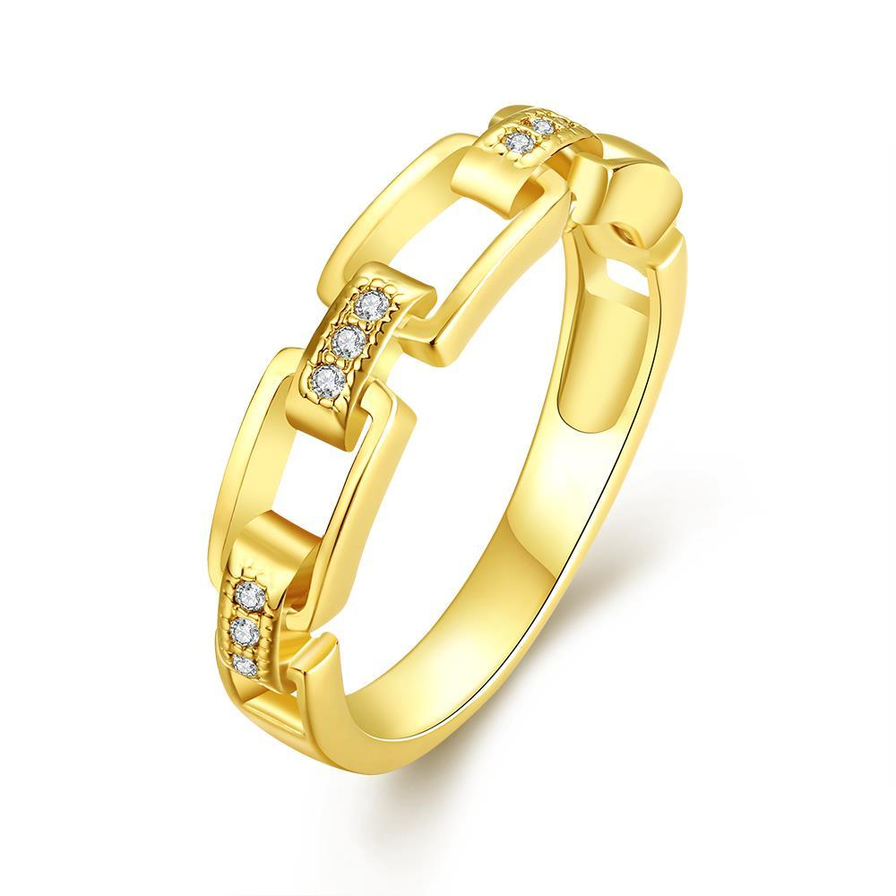 Vienna Jewelry Gold Plated Petite Links Ring