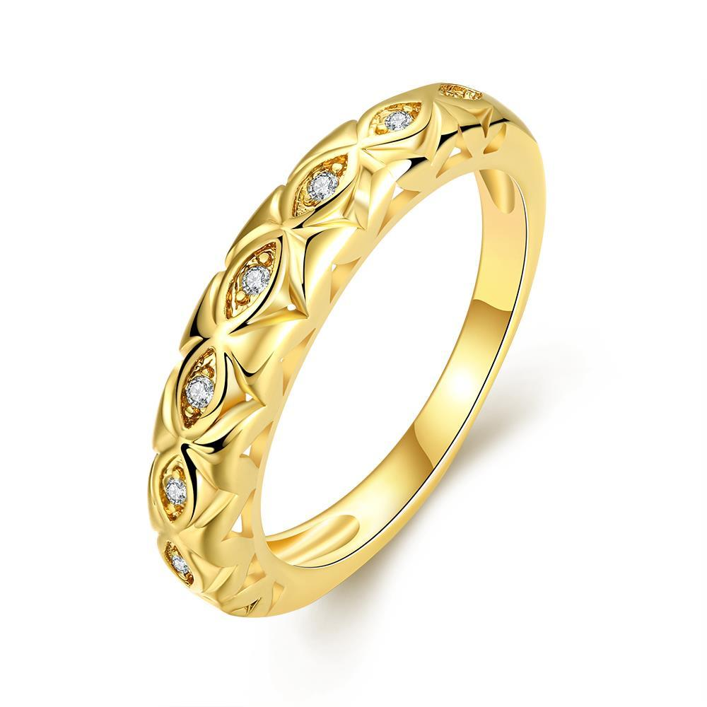 Vienna Jewelry Gold Plated Classic London Ring