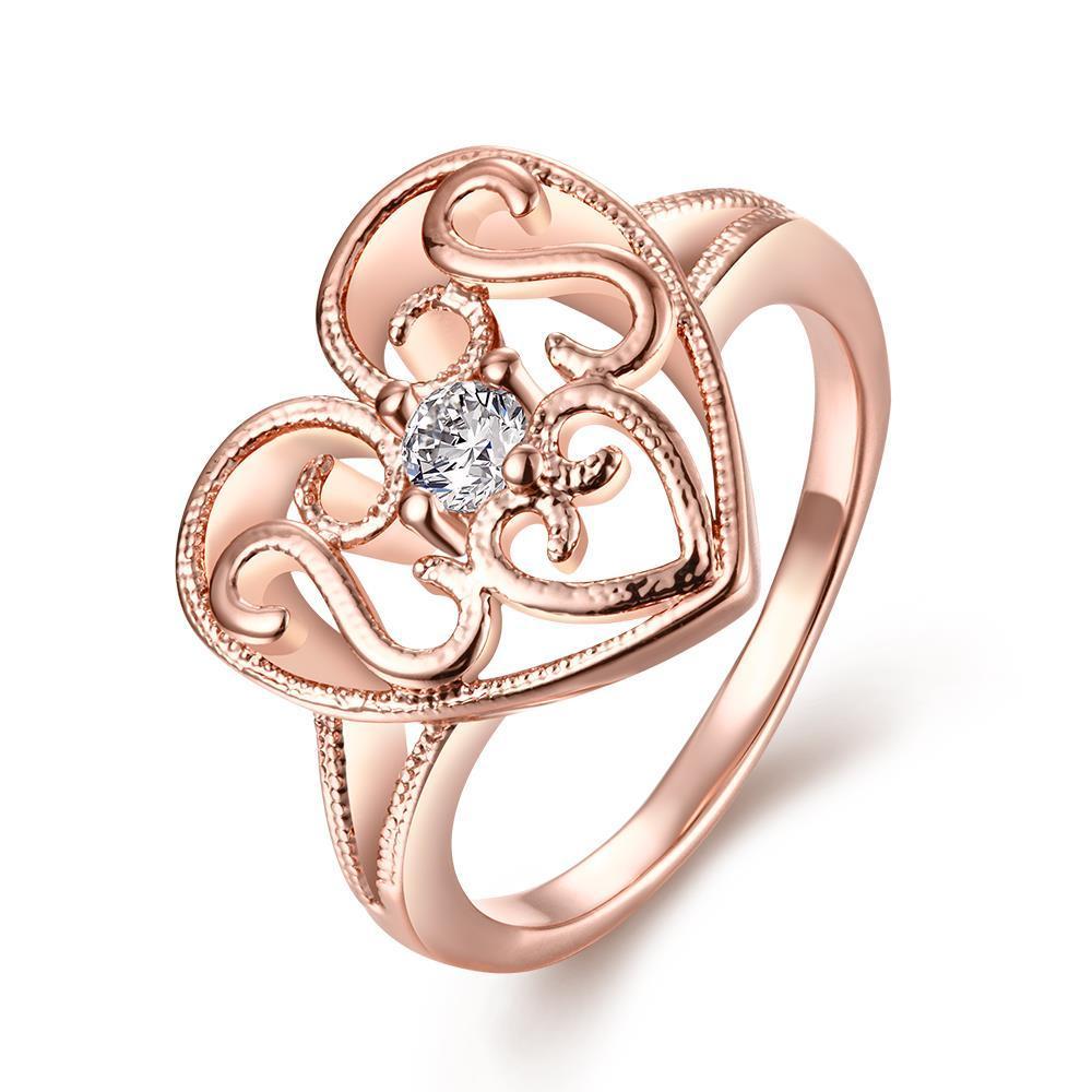 Vienna Jewelry Gold Plated Laser Cut Valentines Love Heart
