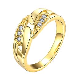 Vienna Jewelry Gold Plated Crystal Cluster Designer Inspired Ring - Thumbnail 0