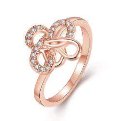 Vienna Jewelry Gold Plated Twisted Design Ring - Thumbnail 0