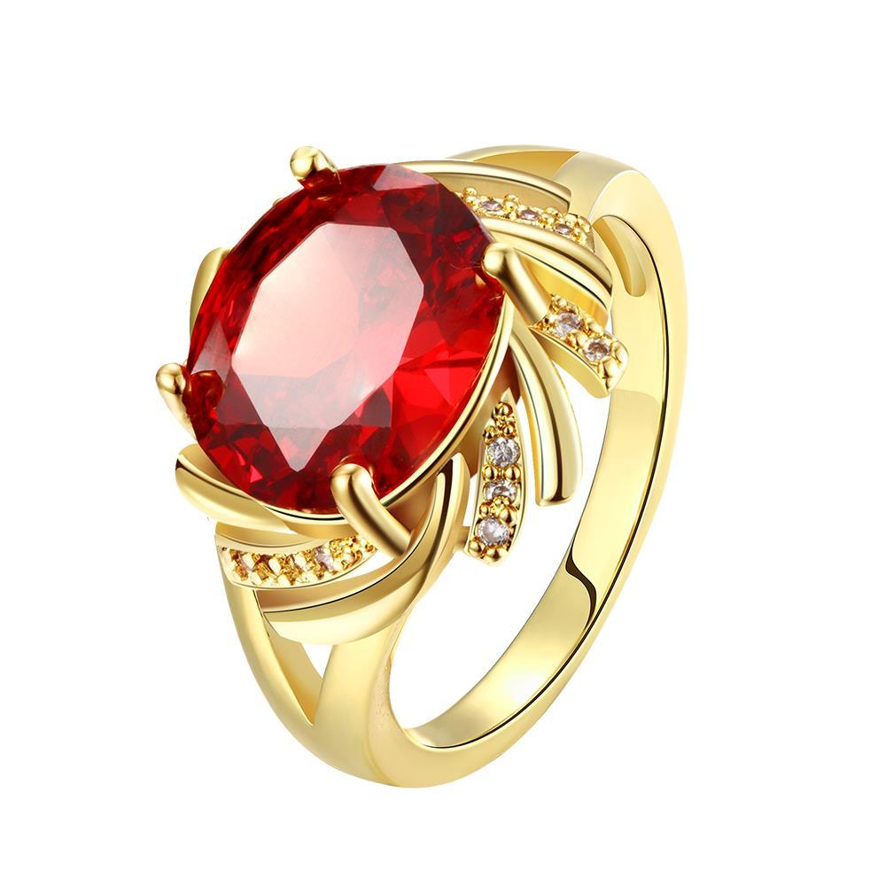 Vienna Jewelry Gold Plated Gemstone Cluster Ring