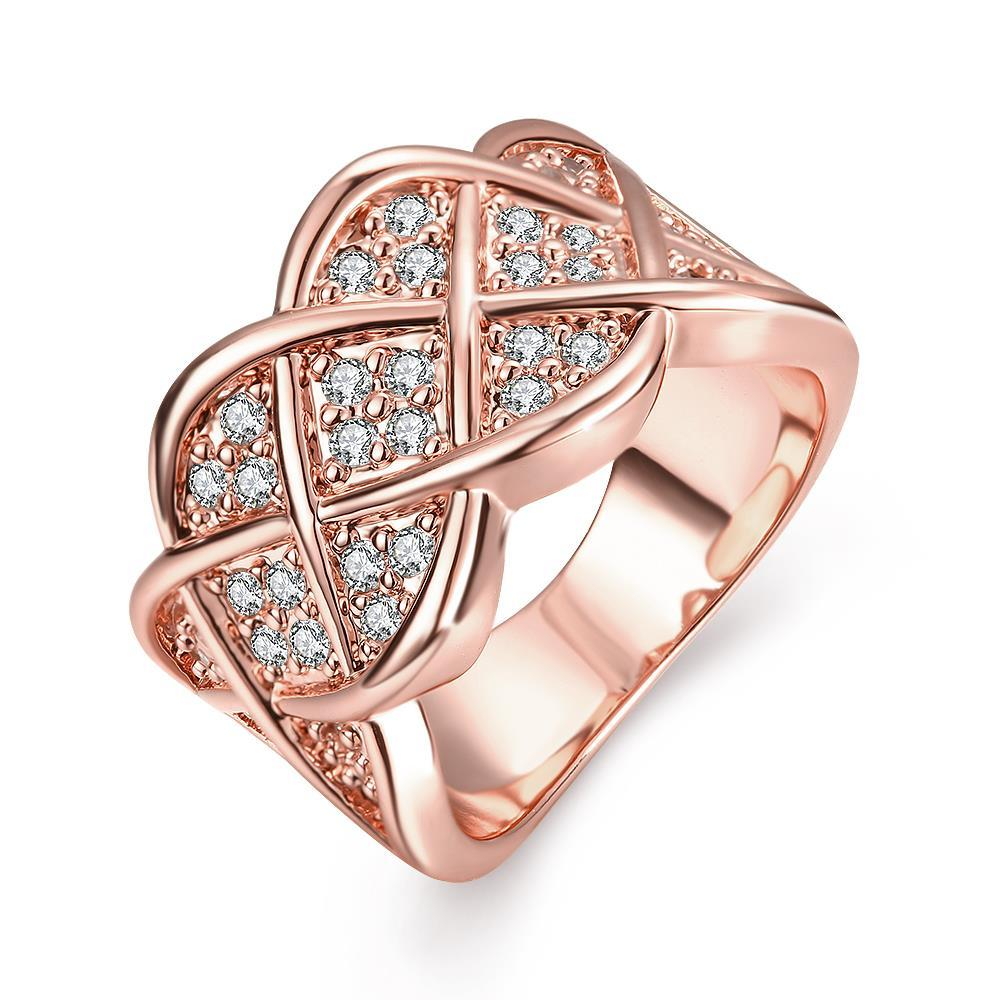 Vienna Jewelry Rose Gold Plated Spiral Curved Modern Ring